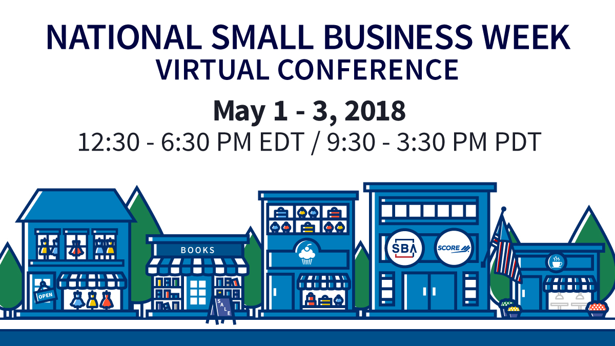 Banner for national small business week virtual conference